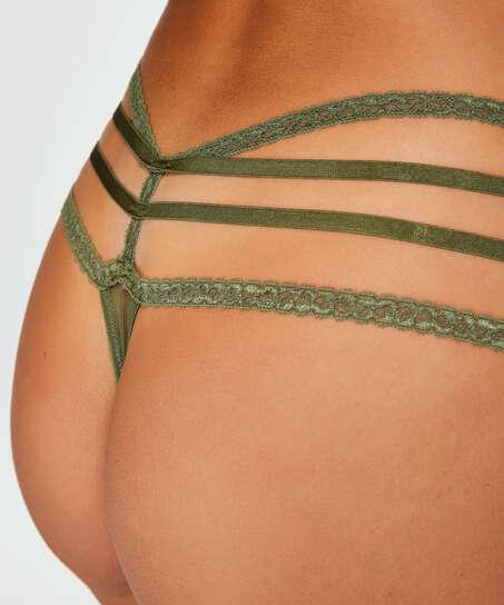 Bonnie low thong, Green