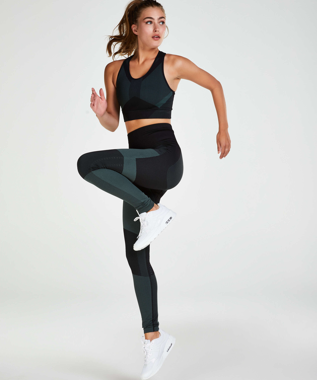 HKMX Sports bra The Motion Level 2, Green, main