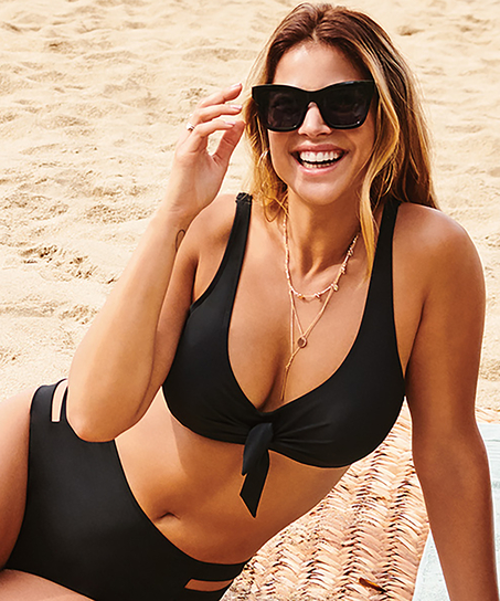 Unformed Clasp Bikini Top Sunset Dreams, Black