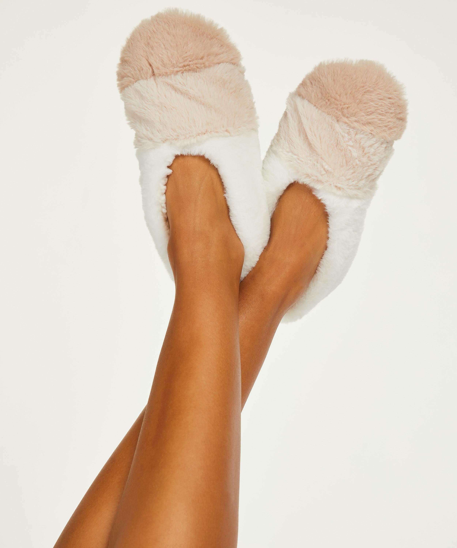 Cosy Ballerina Slippers, Beige, main