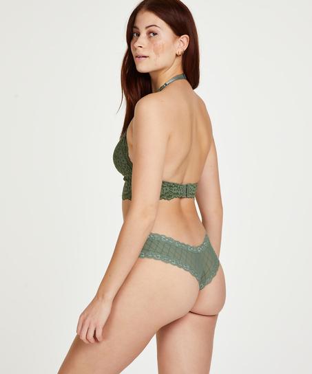 V-shaped Brazilian knickers mesh, Green