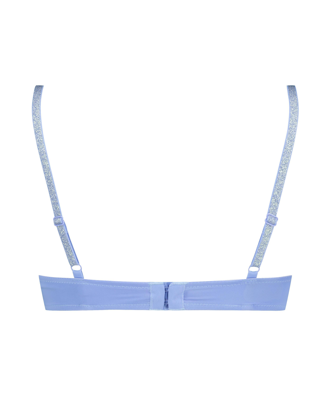 Plunge Padded Underwired Bra, Blue, main