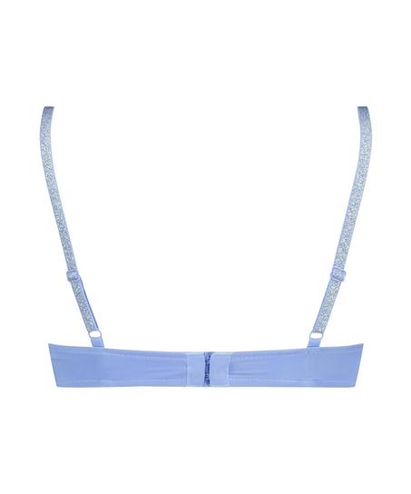 Plunge Padded Underwired Bra, Blue