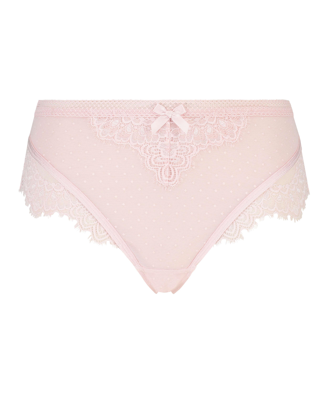 Bessie high-cut thong, Pink, main