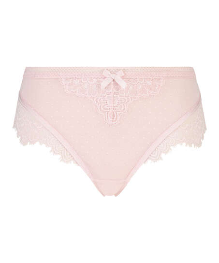 Bessie high-cut thong, Pink