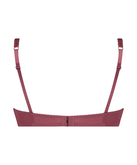 Secret Lace Padded Underwired Bra, Red