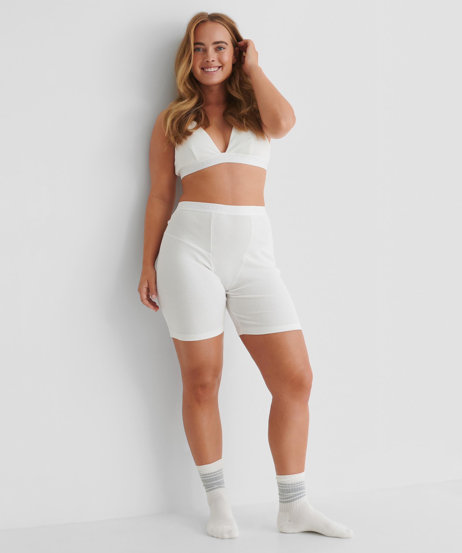 Short high waist Zia HKM x NA-KD, White, main