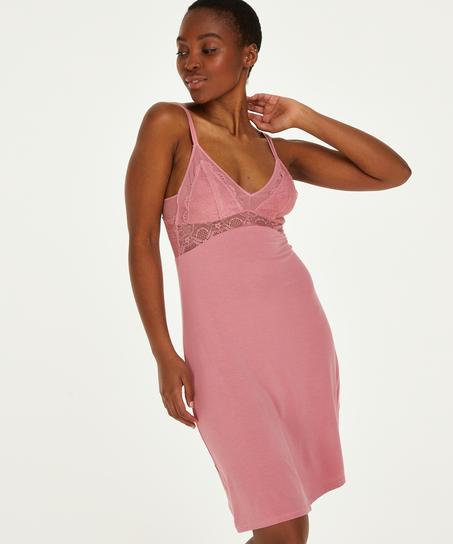 Coco jersey slip dress, Pink