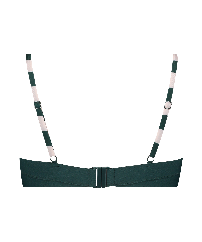 Santa Rosa Padded Underwired Bikini Top, Green, main
