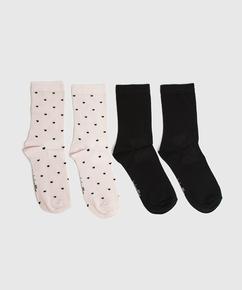 2P Viscose Socks, Pink