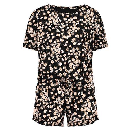 Short pyjama set, Black