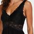 Nora Lace Slip Dress, Black