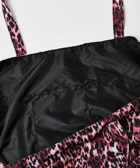 Leopard beach bag, Brown