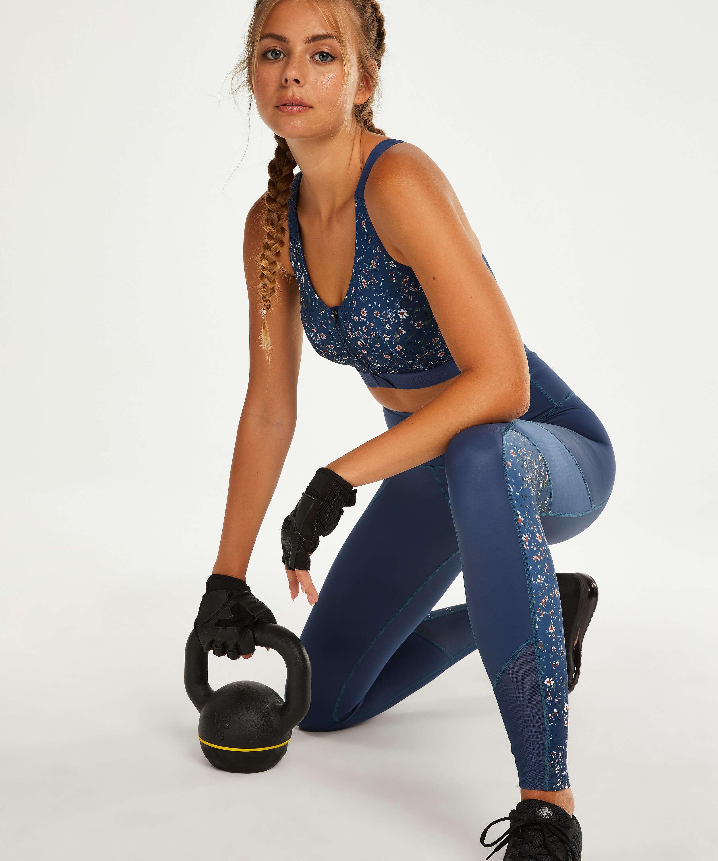 HKMX Sports bra The Pro Level 3, Blue, main