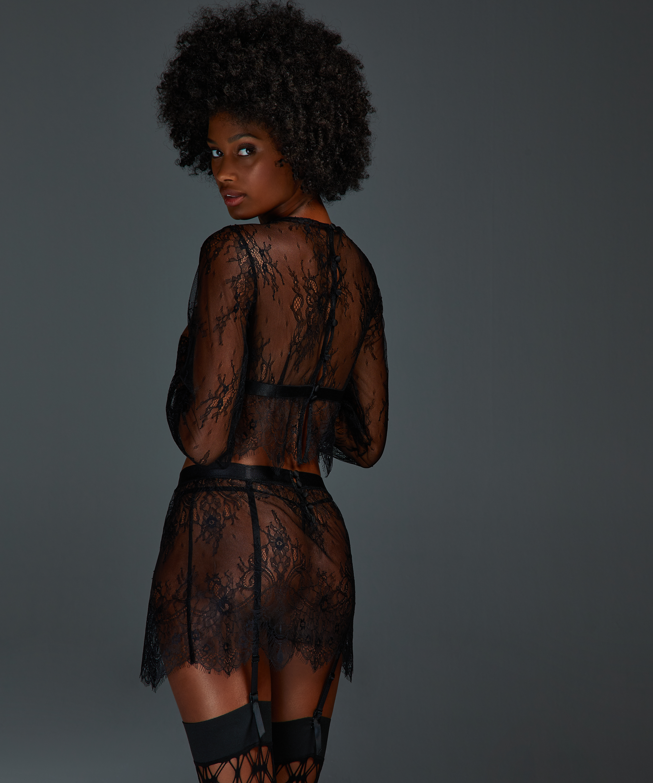 Lace Skirt, Black, main