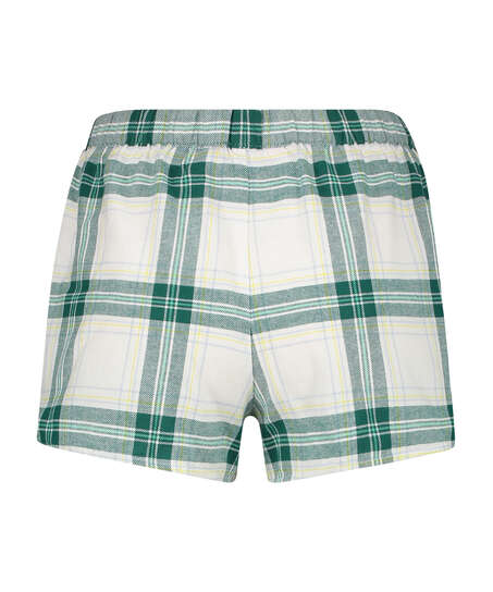 Twill Check shorts, Grey