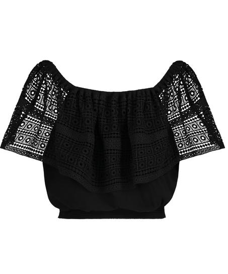 Crochet top, Black
