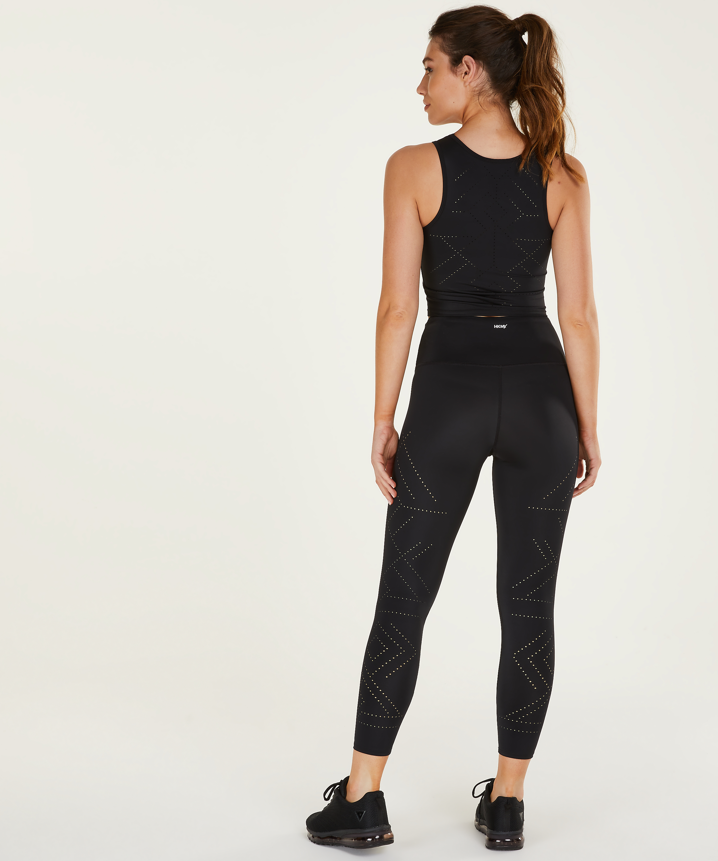 HKMX High waisted cropped sports leggings Naira, Black, main