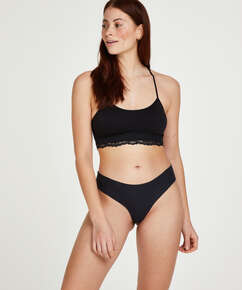 Invisible cotton knickers, Black
