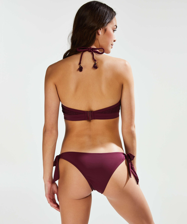 Brazilian low rise Borneo mesh bikini bottoms, Purple, main