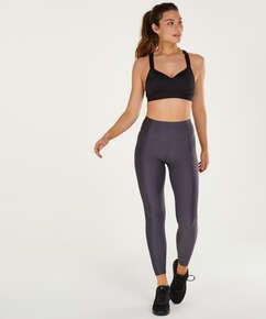 HKMX High waisted sports leggings Shine On, Grey
