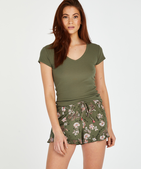 Jersey Pyjama Shorts, Green