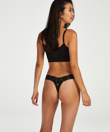 Madison Extra Low Thong, Black