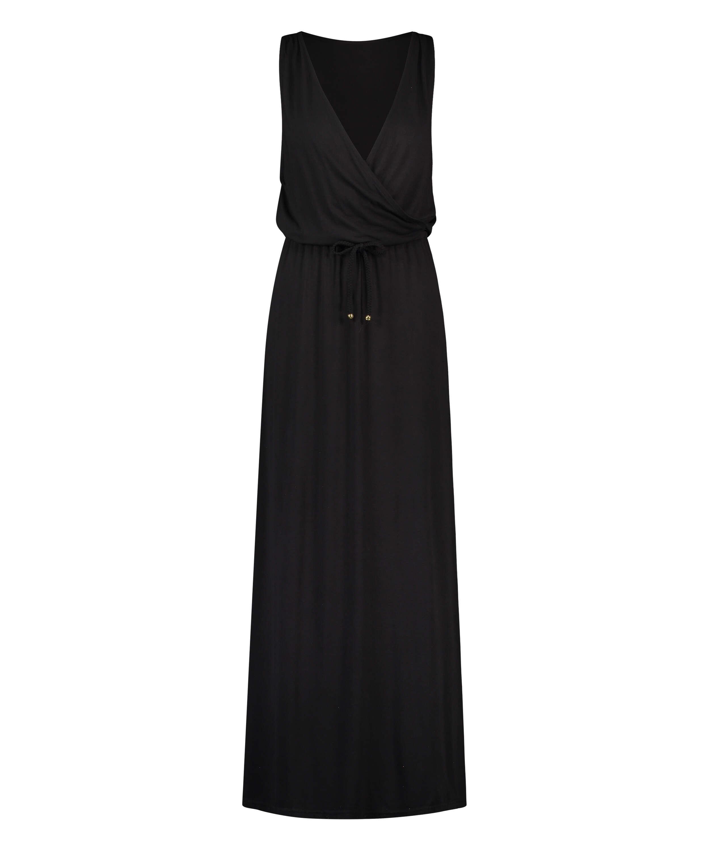 Jersey beach dress, Black, main