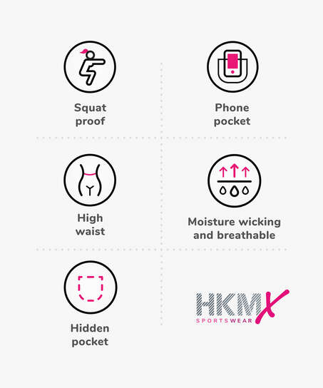 HKMX High waisted capri mesh level 2, Black