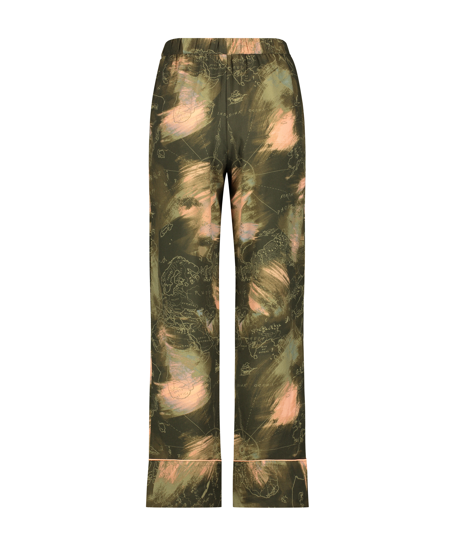 Woven pyjama bottoms, Green, main
