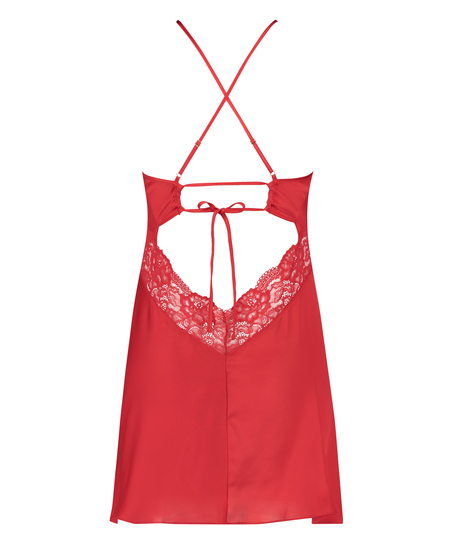 Nina Slip Dress, Red