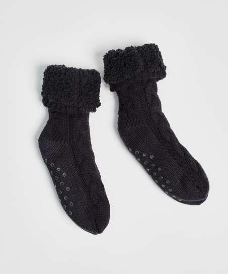 Knitted socks, Grey