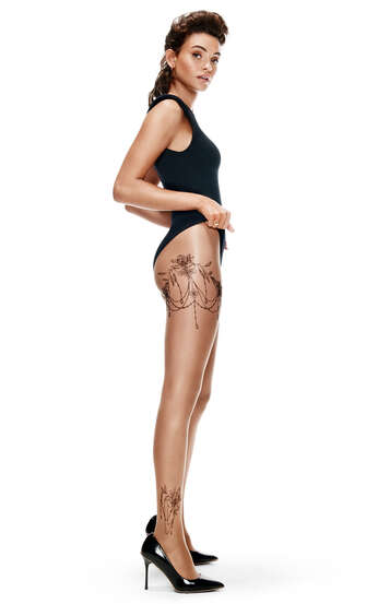 Tights 15 Denier Leg Tattoos, Beige