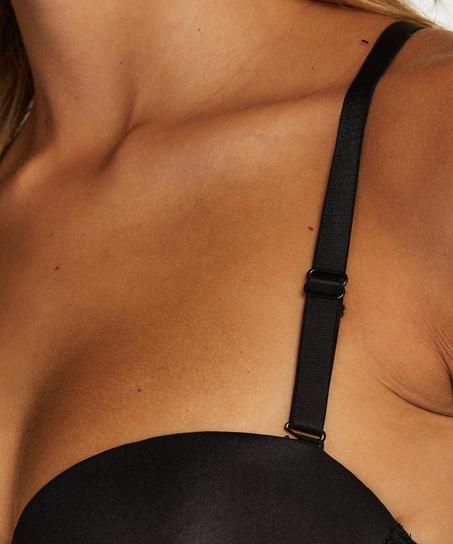 Lace Back Detail , Black