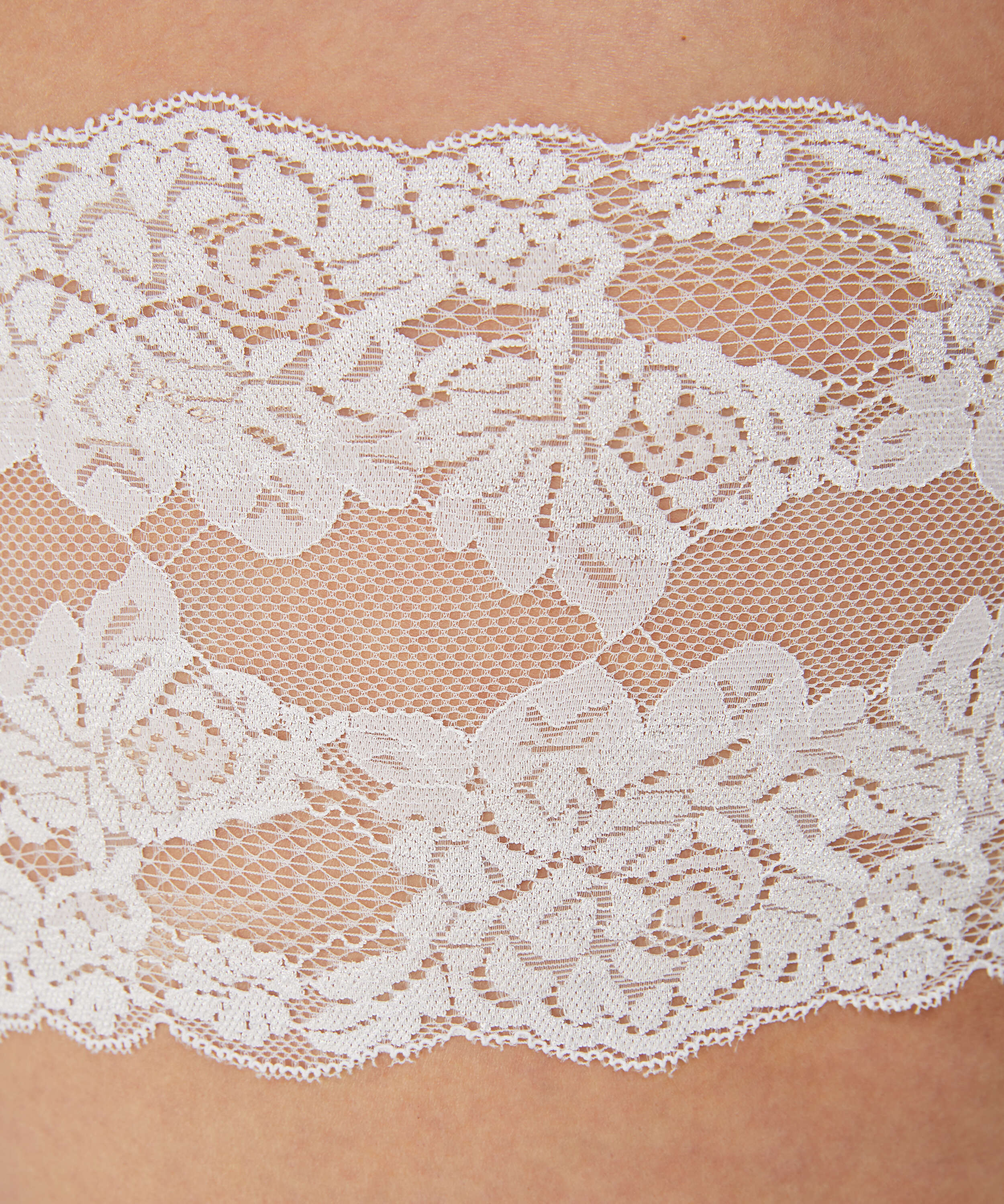 Lace thigh bands, White, main