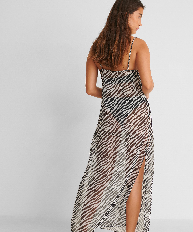 Midi beach dress Animal HKM x NA-KD, White, main