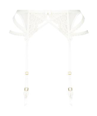 Raven suspenders, White