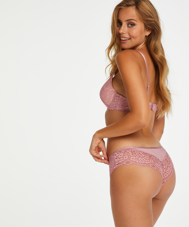 Rose padded push-up bra, Pink, main