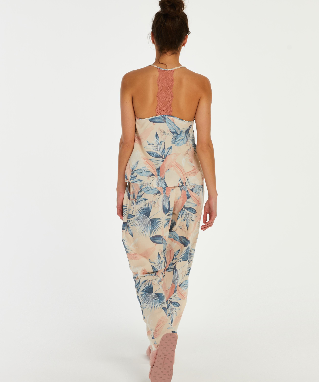 Woven pyjama bottoms, Beige, main