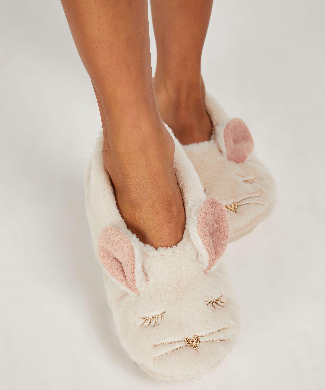 Ballerina Rabbit slippers, Beige, main