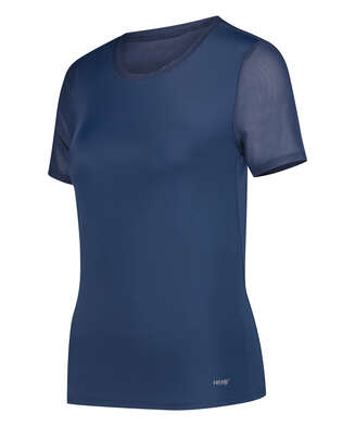 HKMX Open Back Sports Shirt, Blue