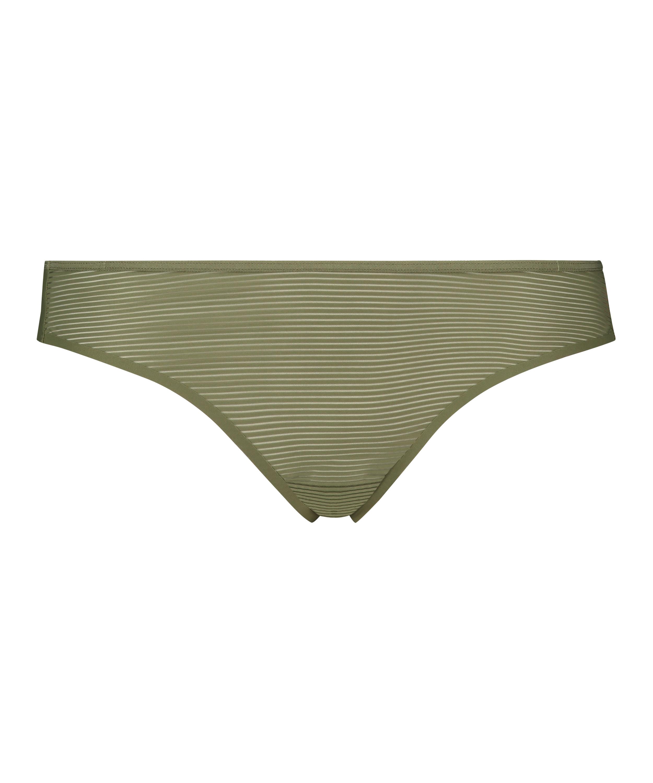 Invisible thong Stripe mesh , Green, main