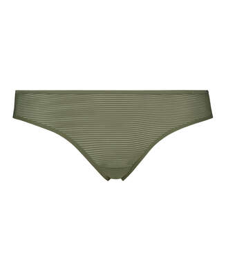 Invisible thong Stripe mesh , Green