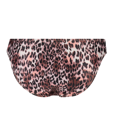 Leopard Rio bikini bottom, Black
