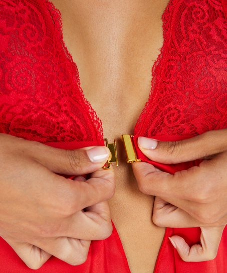 Mariah Satin Babydoll, Red