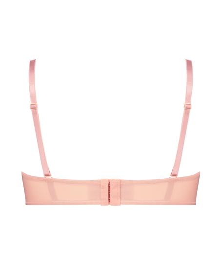 Kelly padded underwired longline strapless bra, Pink