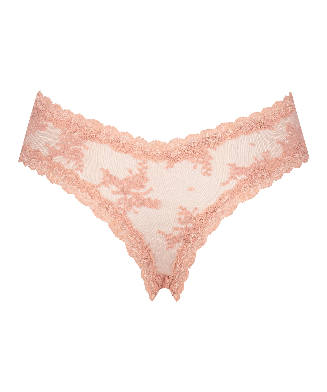 V-shaped Brazilian mesh, Pink, main