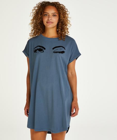 Round Neck Nightshirt, Blue
