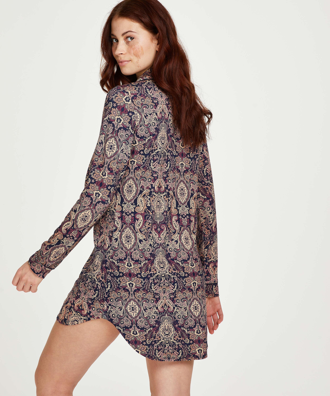 Paisley Pyjama Top, Blue, main