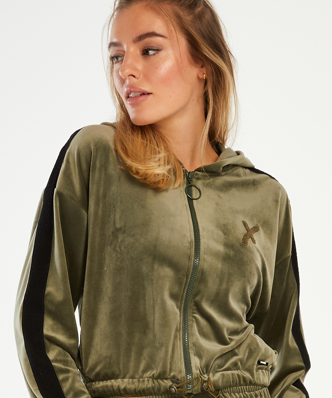 HKMX Sport jacket Velours, Green, main